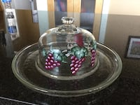 clear glass floral bowl with lid Kelowna, V1P 1N9