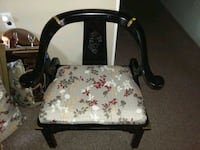 brown wooden framed white and red floral padded armchair Grand Junction, 49056