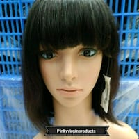 GLUELESS BRAZILIAN FRONTAL LACE BOB WIG WITH FRING Fort McMurray, T9H 4K1