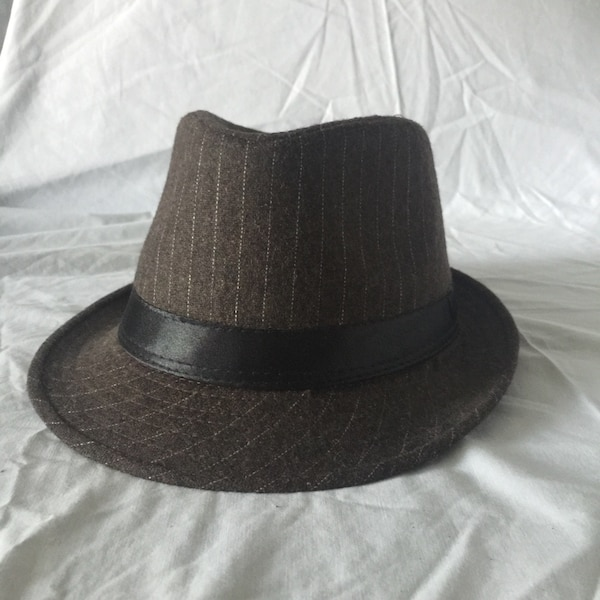 27de967f00 Used Brown with White Pinstripe Fedora for sale in Toronto - letgo