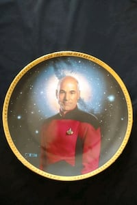Star Trek TNG Captain Jean-Luc Picard collector plate Mississauga, L4Z 1W3