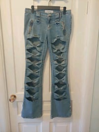 LADIES BOW FRONT JEANS