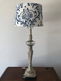 Classic vintage silver textured table lamp North Las Vegas, 89084