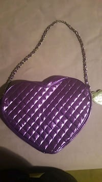 quilted purple leather heart bag Pueblo, 81001
