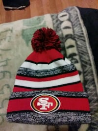 red and white San Francisco 49ers knit cap Stockton, 95205