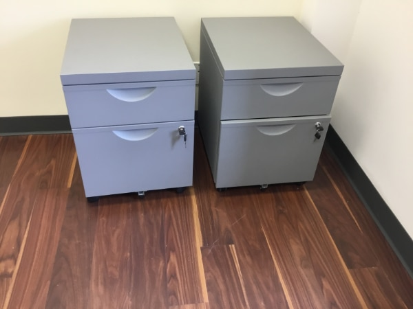 Final Days   Price Negotiable   Ikea   ERIK Short 2 Drawer File Cabinet On  Casters