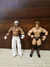 WWE Rey Mysterio and Chris Jericho action figures. Whitby, L1P 1A2