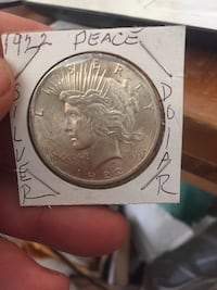 Authentic 1922 Peace Silver Dollar ! Dickson City, 18508
