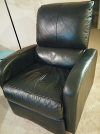 Two black leather recliners Abbotsford
