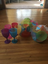 Outdoor plastic wine glasses, margarita glasses and martini glasses. brand new. $10 for all of them Sinking Spring, 19608