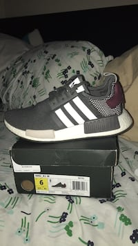 pair of dark green Adidas NMD shoes with box San Diego, 92115
