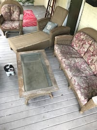 Patio set includes rocking chair, chase lounge, sofa & table Tampa, 33603
