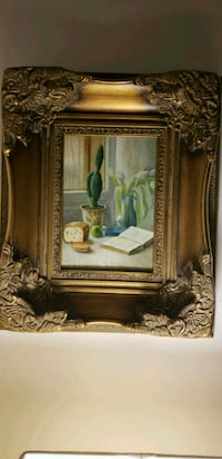 Oil painting with all gold wooden fram Mississauga, L5M 0N7