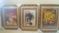 three-brown framed with flowers and tiger artworks Pharr, 78577