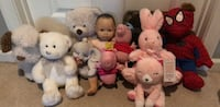 Toy stuffed animals and baby doll  Centreville, 20121