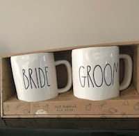 Rae Dunn Bride and groom mugs set TORONTO