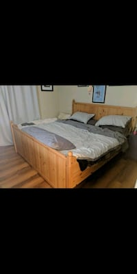 Ikea brown wooden bed frame Oceanside, 92056