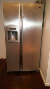 gray LG stainless steel side-by-side refrigerator  Washington, 20002
