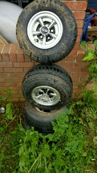 4 Kenda Golf Cart Tires/Wheels With SS caps