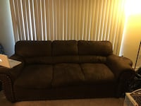 Brown fabric 3-seat sofa Alexandria, 22306