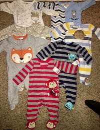 0-3 months footed pijamas NEW!