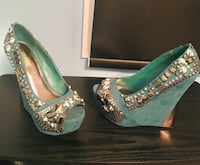 Pair of turquoise wedges Vaughan, L4J 7T1