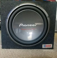 Pioneer subwoofer speaker with amp Milford, 06460
