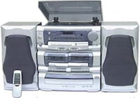 Grey Record Player, CD Player, Cassette Player! San Jose, 95116