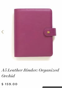 A5 6 ring leather planner *BRAND NEW* * NEVER USED* Broomfield, 80021