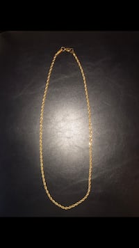 "Gold Plated Rope Chain 24"" 4mm Richmond Hill, L4C 7M9"