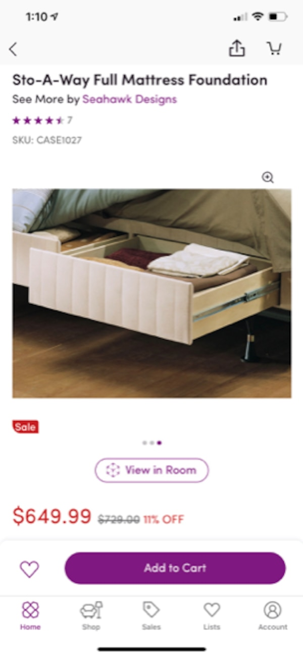 King Box Spring with Drawers