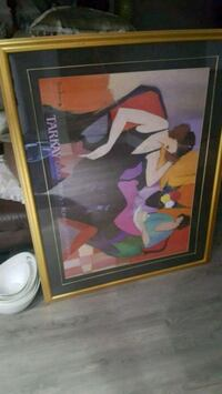brown wooden framed painting of woman 535 km