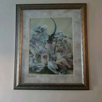 Heavy framed dragonfly painting  Edmonton, T6H 5Y6