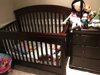 baby's brown wooden crib Vancouver