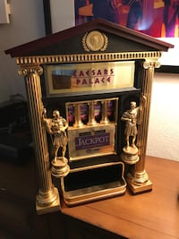 Caesars Palace Official Slot Machine Bank -Compact Very Nice! Dunn, 28334