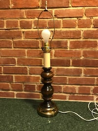 Vintage brass and wooden lamp Silver Spring, 20902
