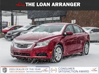 2014 chevrolet cruze with 50,862km and 100% approved finacing Barrie
