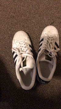 pair of white Adidas low-top sneakers Champaign, 61820