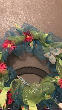 blue and green floral wreath Corpus Christi, 78405