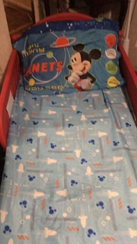 Beautiful Mickey Mouse bed with mattress and sheet and pillow case  Lake Charles, 70615