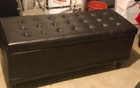Black leather tufted ottoman  Kettering, 45429
