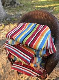 11 Striped Outdoor Patio Cushions