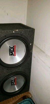 black and gray MTX Audio subwoofer speaker Vancouver, V5P 3X6