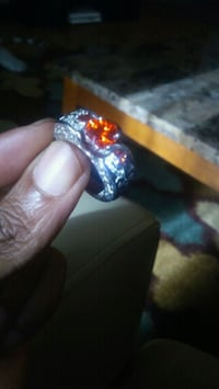 Angel Wing Inspired Lab-created Ruby Ring For Wome