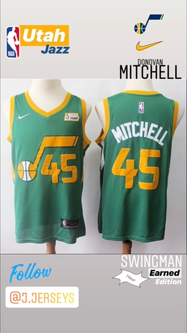 new arrival d098e 6d3af NEW NBA Earned Edition SWINGMAN jersey - Utah Jazz (Donovan Mitchell)