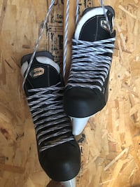 Pair of black-and-white adidas basketball shoes Innisfil