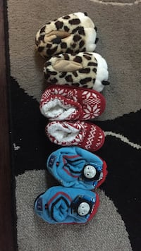 3 pairs of home slippers Edmonton, T6T 1H2