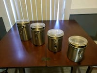 Stainless steel canister set Ocala