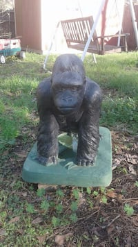 Gorilla statue weights  over 200 pounds