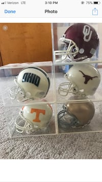 Mini college football helmets with display case Cleveland, 44113